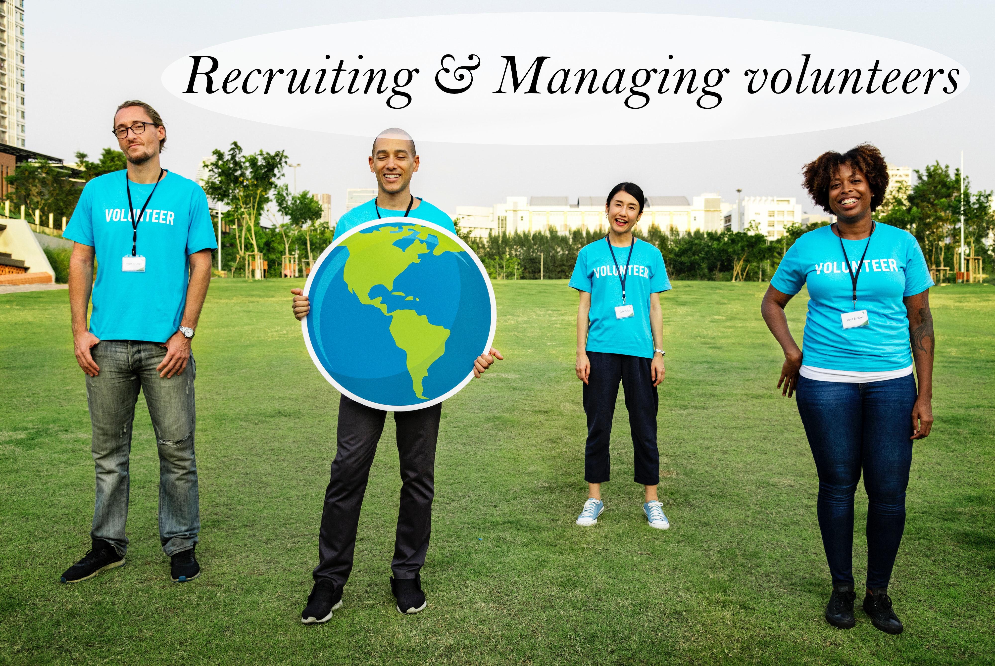recruit & manage volunteers