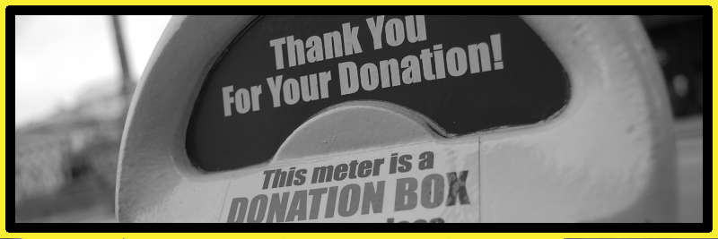 Charity donation box for the homeless - Black and white
