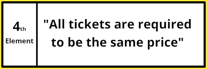 The Gambling Commission says that all lottery / charity raffle tickets are required to be the same price. This is an important element of organising small lotteries.