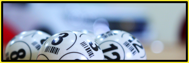 Balls used in organising small lotteries or running charity raffles.